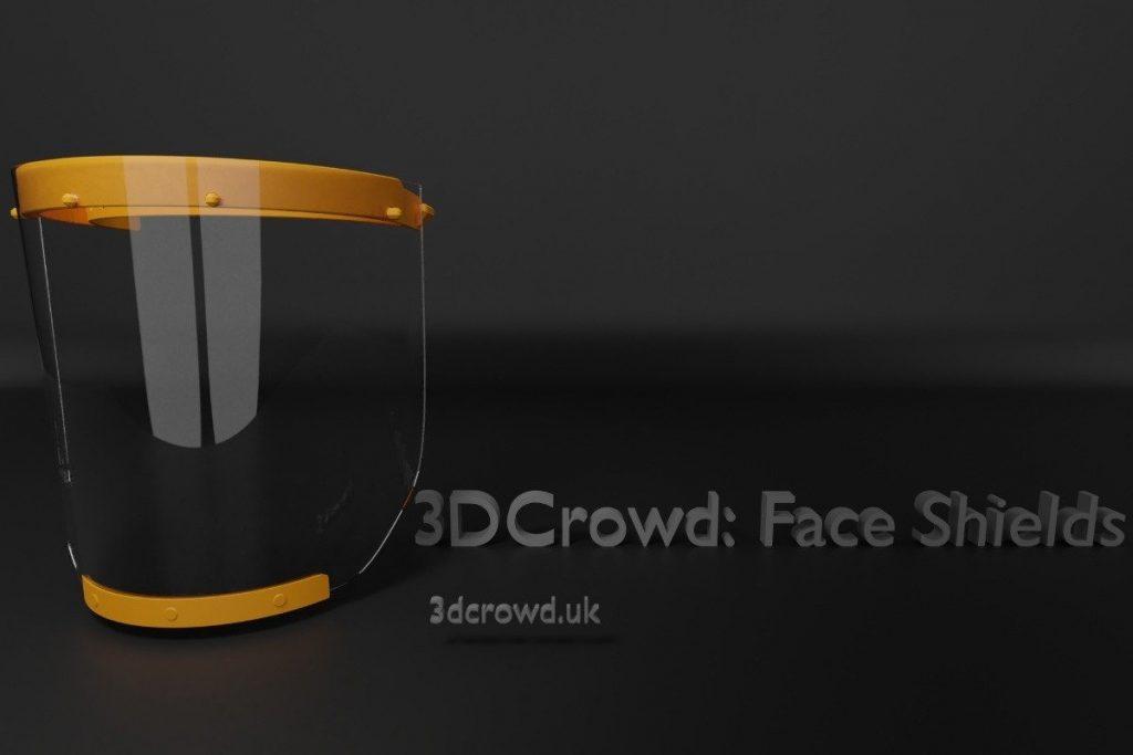 Corona Virus Face Shields - 3D Crowd - SanCloud