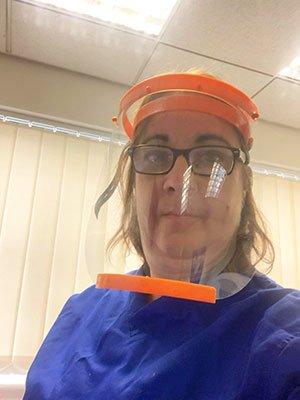 Salford NHS Doctor wearing SanCloud Face Shield